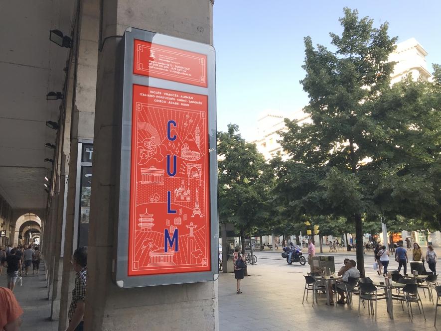 Imagen y decoración del Centro Universitario de Lenguas Modernas