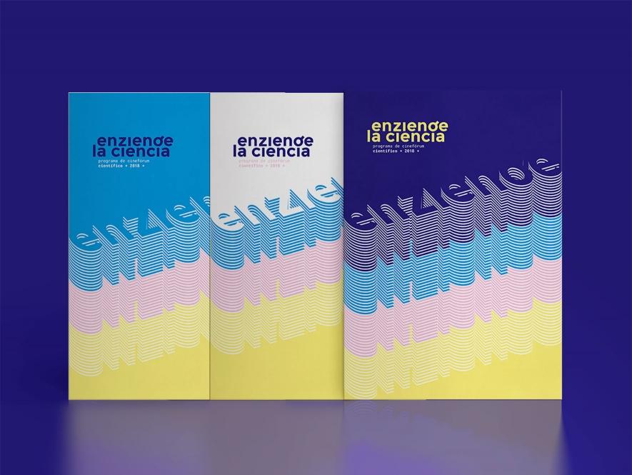 Enziende la Ciencia. Naming, branding y diseño editorial.