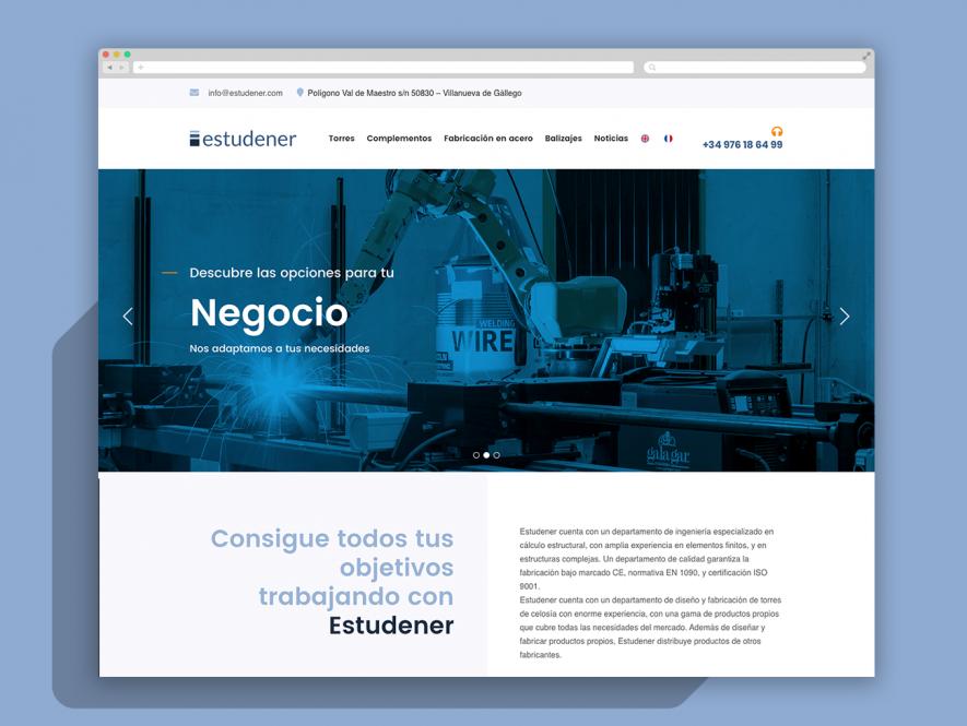 Estudener. Rediseño de logo, Web corporativa y Audiovisual