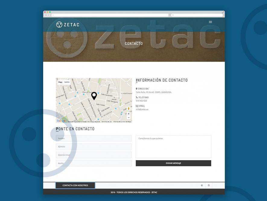 Zetac, web de alquiler de material audiovisual